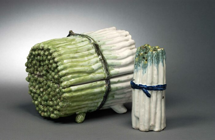 Asparagus tureen and caster, 2nd halve 18th century © Racine_Martens