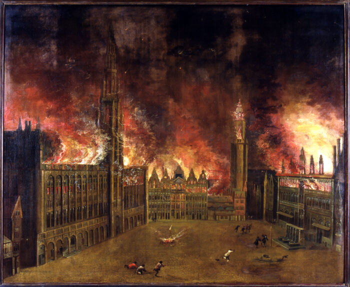 The bombardment of 1695 © Brussels City Museum