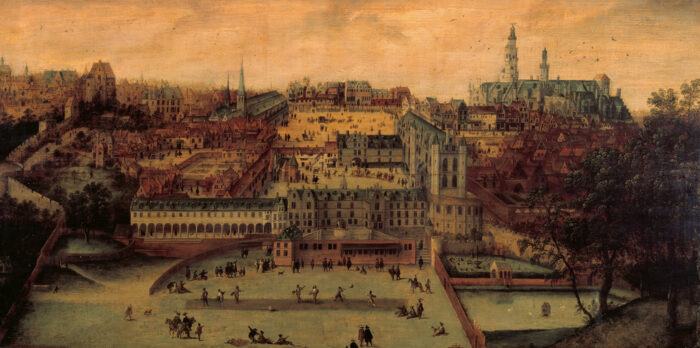 L.Gassel, Le Palais des Ducs de Brabant au Coudenberg, 1540-1548 © Musée de la Ville de Bruxelles