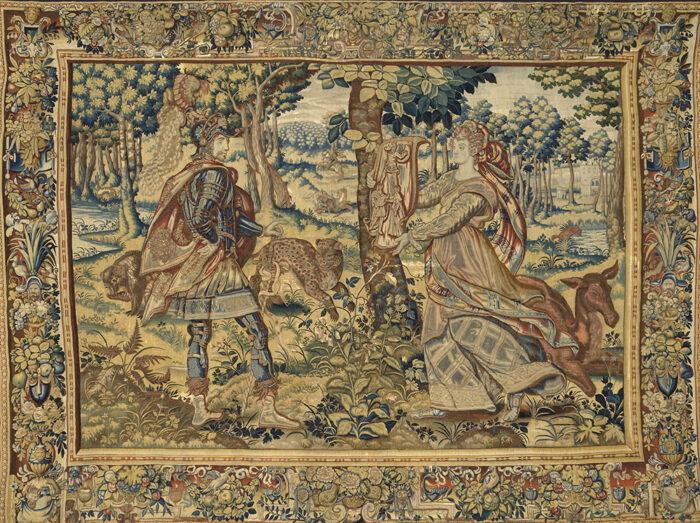 Histoire de Tristan et Yseult - Tristan et Morgain, 1620-1630 © Y.Peeters et A.Dohet