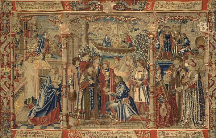 B.Van Orley, Légende de Notre-Dame du Sablon : la statue de Notre-Dame est conduite à l'église du Sablon, entre 1516 et 1518 © Y.Peeters et A.Dohet