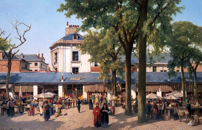 J-B.Van Moer, Le marché au beurre © Museum van de Stad Brussel