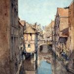 J-B.Van Moer, La Senne, rue des Teinturiers, 1870 © Musée de la Ville de Bruxelles
