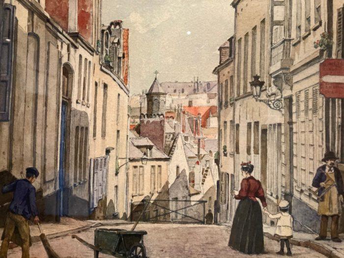 J.Carabain, La rue Notre-Dame en direction de la rue Terarken, 1894 © V. Everarts, Y. Peeters et J.-J. Rousseau