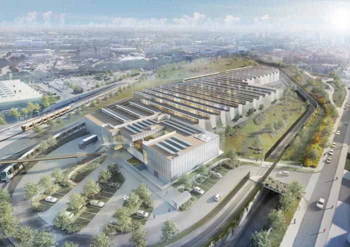 Projet de nouveau dépôt de métro à Haren, 2020 © STIB-MIVB