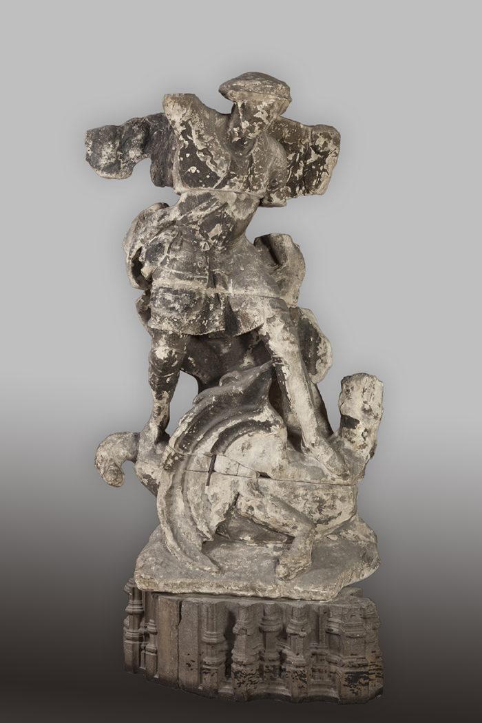 Anonyme, Saint Michel terrassant de démon, 1650-1699 © V.Everart
