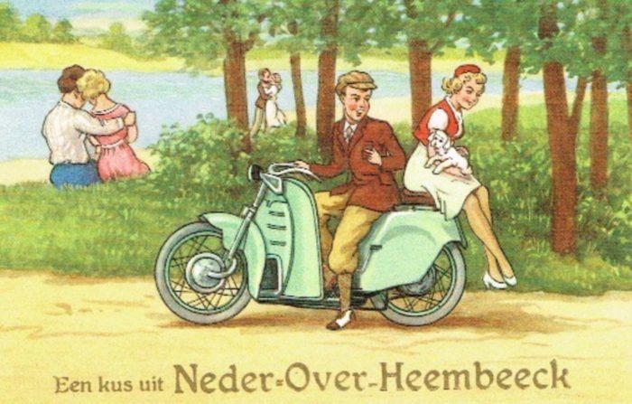 Carte postale « Bons baisers de Neder-Over-Heembeek », 20e siècle © Collection privée